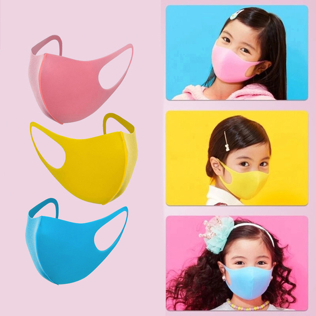 10PCS Kids Dust-proof PM2.5 Mouth Mask  PU Sponge Washable Mouth Cover for Children Breathable Respirator Face Mouth Masks
