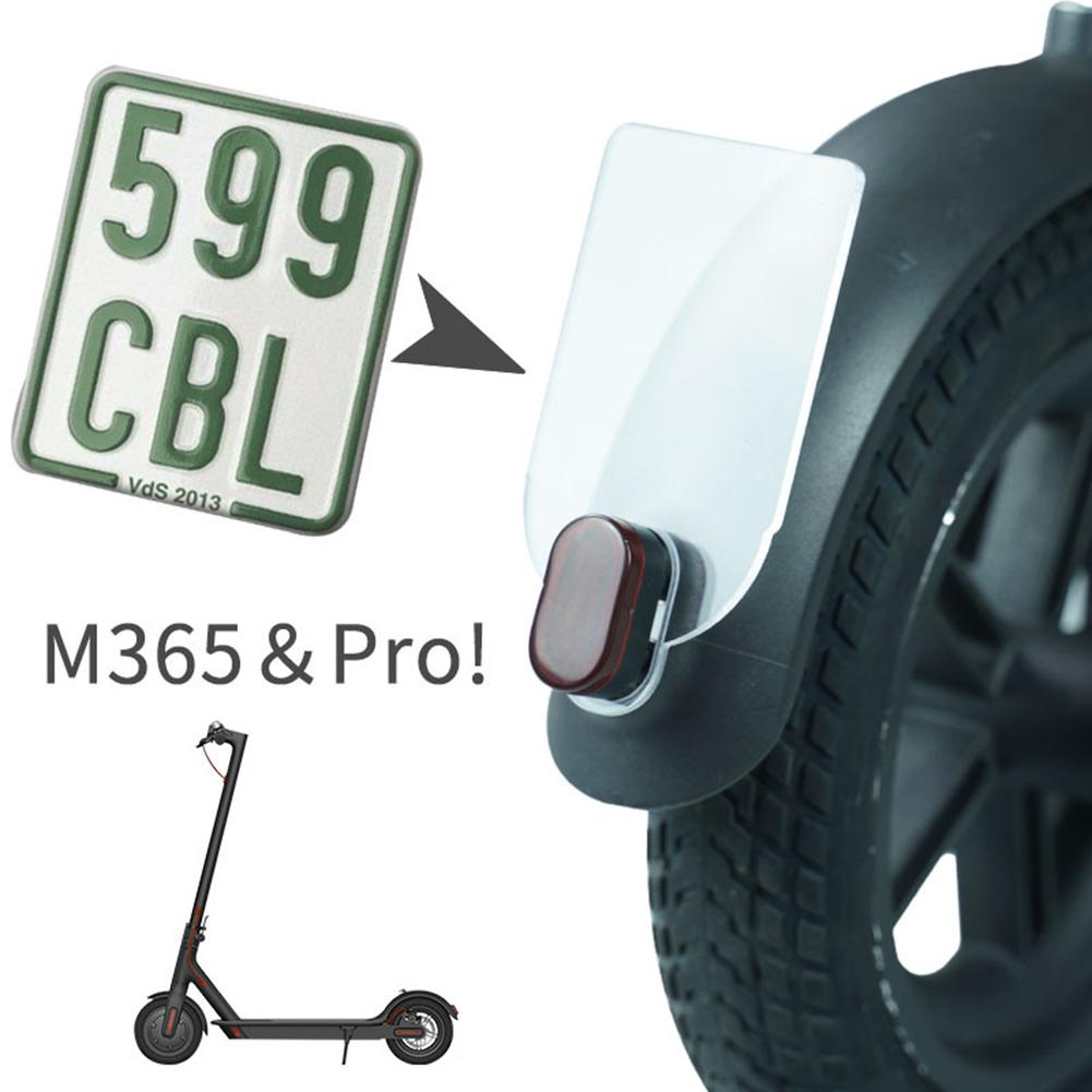 For Xiaomi M365 Pro Shockproof Safety Warning Plate Electric Scooter Rear Tail License Plate Fender Accessories