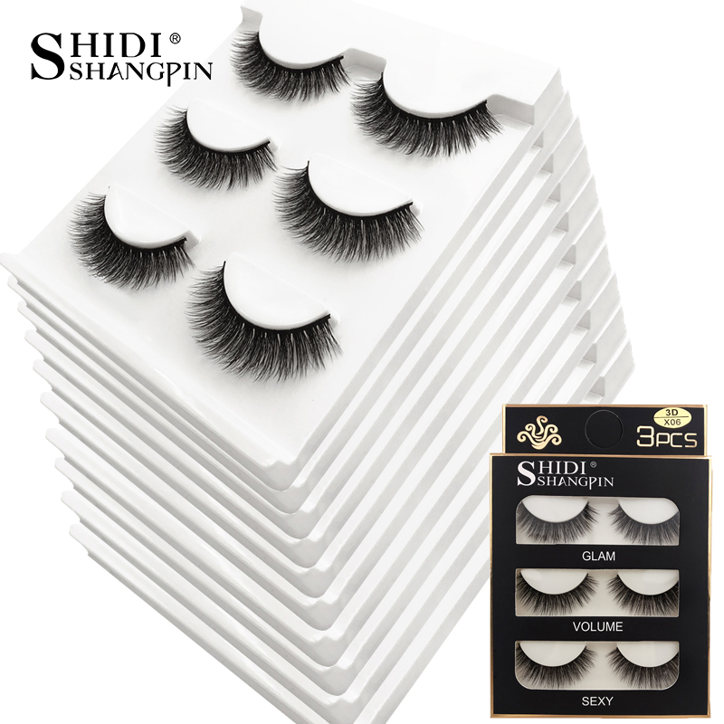 New 30 Pairs Natural False Eyelashes Thick Make Ups 3d Mink Lashes Soft Eyelash Extension Fake Eye Lashes Mink Eyelashes Fashion