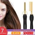 2 в 1 выпрямитель для волос бигуди электрический горячий нагрев расческа гладкий плоский утюг многофункциональный инструмент для выпрямлен...