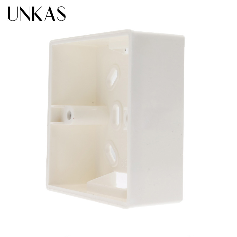 UNKAS External Mounting Box 86mm*86mm*34mm For 86mm Standard Touch Switch And Socket Apply For Any Position Of Wall Surface