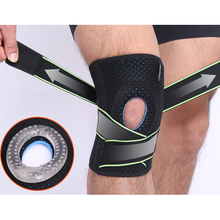 1pc Knee Brace Sports Straps Adjustable Open Patella Breathable Knee Support For Running Gym Workout Recovery Elastic Cloth Pads недорого