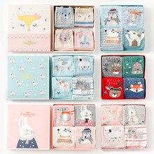 2018 Caramella 4 pairs/box Cartoon Animals Cotton Women/men