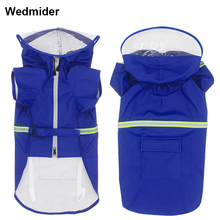 Waterproof Dog Raincoat Reflective Dogs Rain Jacket Safety Rainwear Jumpsuits Poncho Clothes For Medium Large Pet
