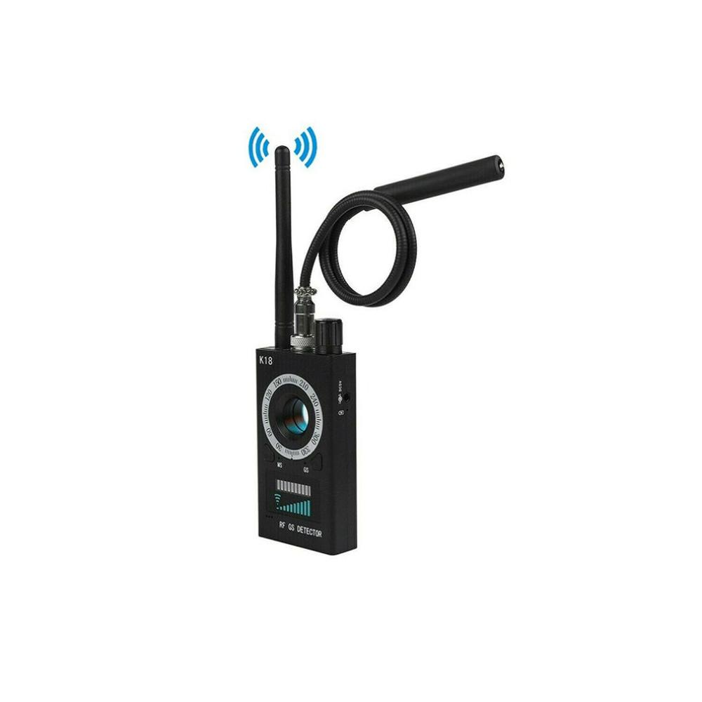 Détecteur de Signal RF Durable de conception exquise caméra détecteur Anti-espion K18 GSM détecteur de bogue Audio GPS Scan