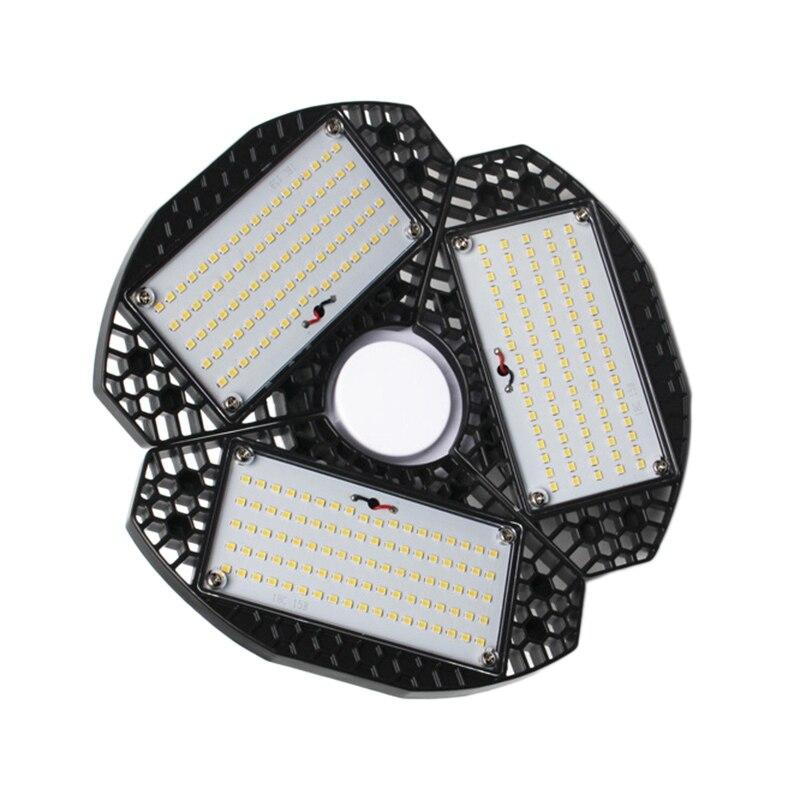 50W Deformable Tri-Fold Lamp LED Adjustable Three Light Garage Basement High Bay Light Plant Growth Lamp