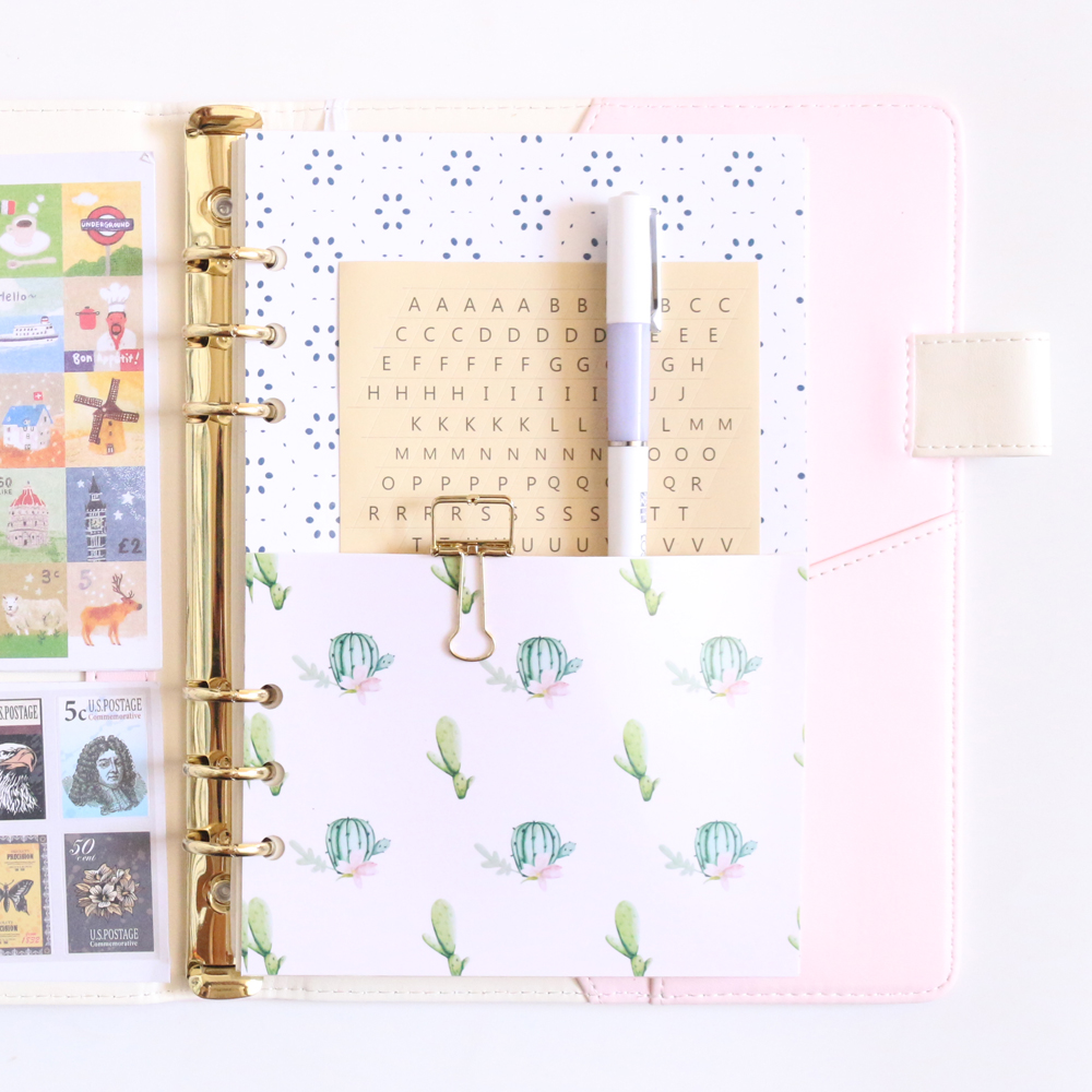 Spiral Notebook Separator Page Landscape Pattern Notepad Accessory Quality Decor