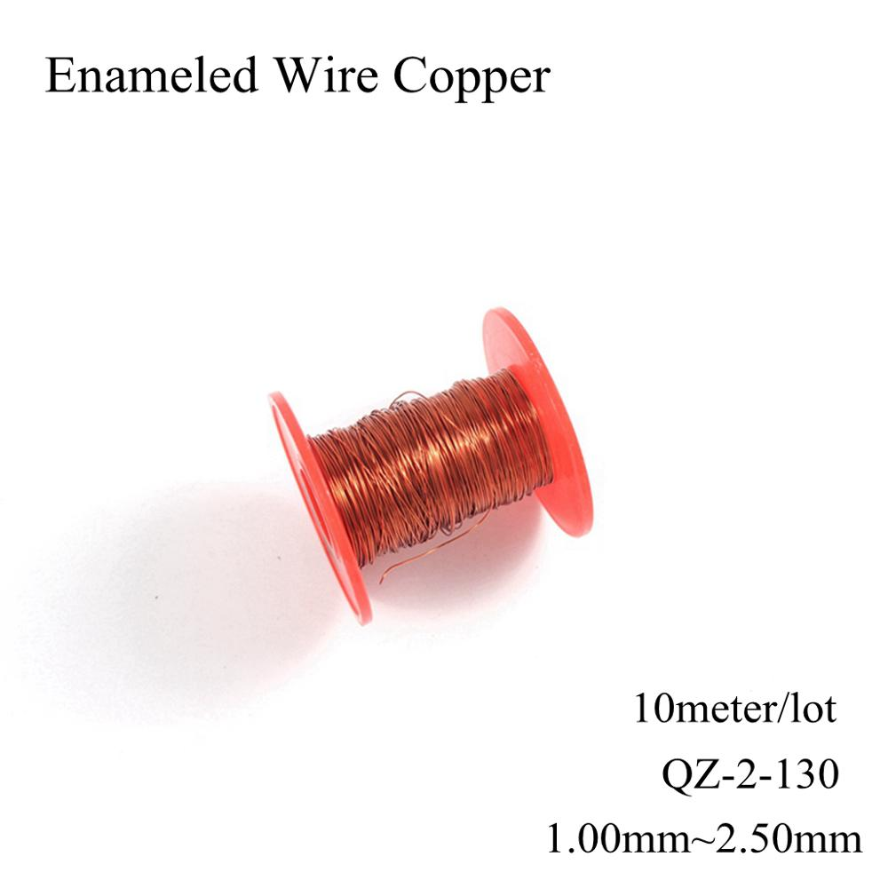 <font><b>1mm</b></font> 1.2mm 1.5mm 2.5mm QZ-2/130 Polyester Enameled Wire Copper Magnetic Wires Coil Winding Enamelled Round Magnet <font><b>Cable</b></font> image