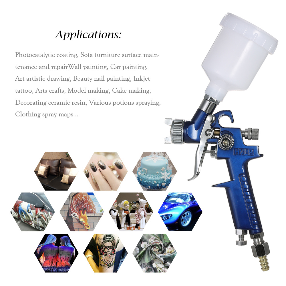 H768a55599331443bb76dfaeca36875e4P - HVLP spray gun professional touch-up mini paint sprayer for toy leather furniture and car reparing painting