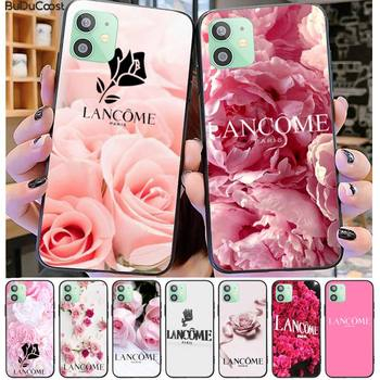 French Cosmetics Lancome Flower Phone Case For Iphone 12 11 Pro11 Pro Max X XS XR XS MAX 8plus 7 6splus 5s Se 7plus Case image