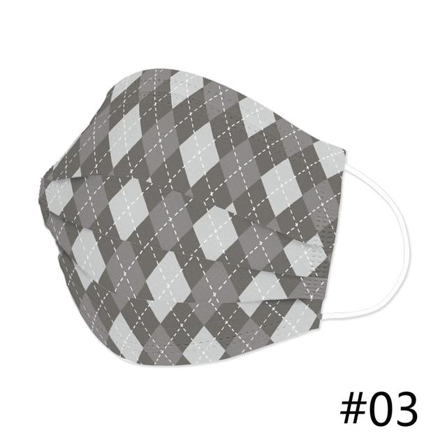 50Pcs 3Layer Mouth Face Mask Disposable Breathable Masks Customized Special Hello Plaid Stripe Country City Universe Mask 2