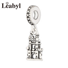 Anomokay Classic Silver Castle Charms Pendants fit Bangles Bracelets Necklace Castle Beads for DIY Jewelry Making(China)