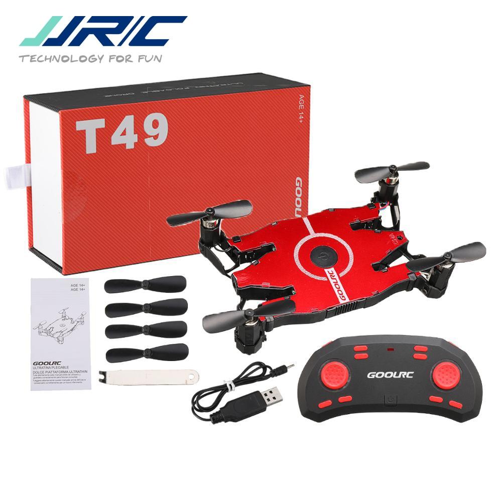 JJR/C JJRC T49 SOL Ultrathin Wifi FPV Selfie Drone 720P Camera Auto Foldable Arm Altitude Hold RC Quadcopter VS H49 E57 H37(China)