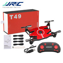 Jjr/C Jjrc T49 Sol Ultradunne Wifi Fpv Selfie Drone 720P Camera Auto Opvouwbare Arm Hoogte Hold Rc quadcopter Vs H49 E57 H37(China)