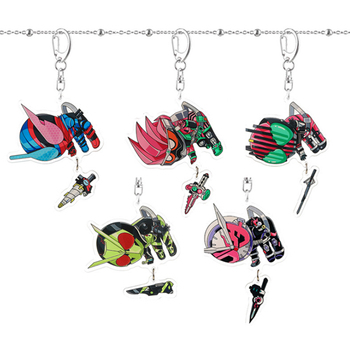 Japan Anime knight masked rider Kamen Keychain Decade Ex Anime Peripheral Sublimation Locust Creative Student Bag Pendant image