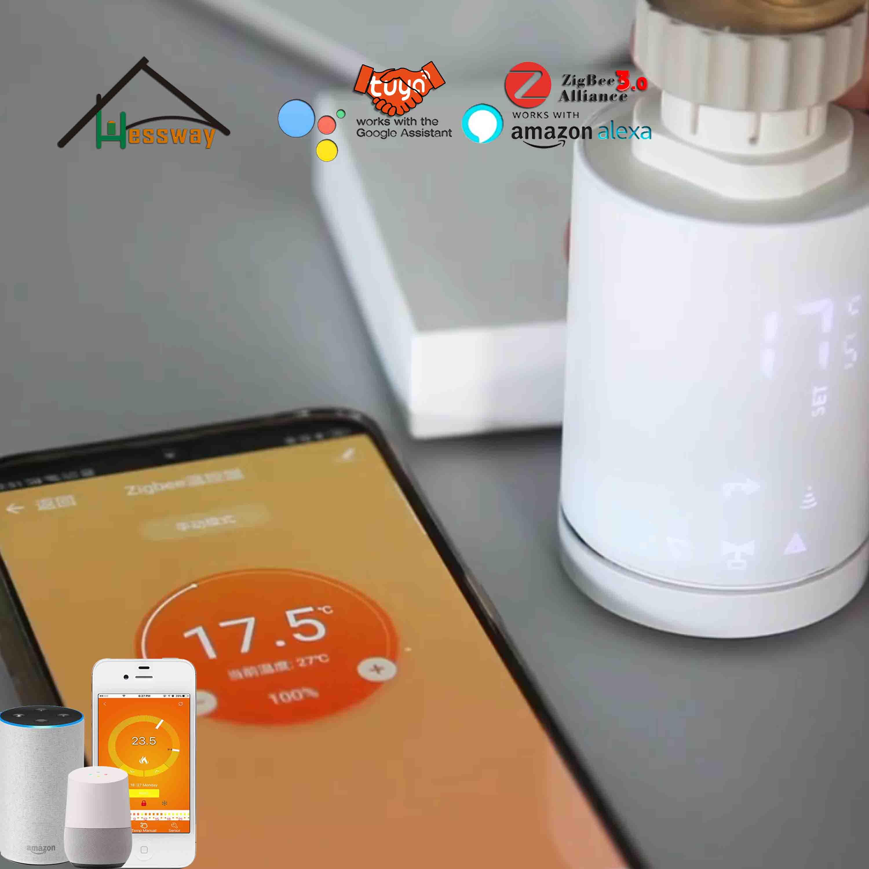 HESSWAY Tuya Zigbee Smart Thermostat Valve For Zigbee Radiator Wifi IEEE 802.15.4 Standard