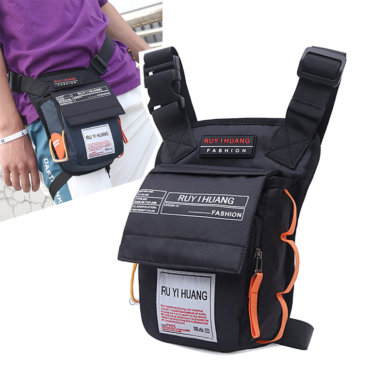 Men Nylon Drop LegsBag Hip Bag On The Thigh Belt Fanny Pack Street Style Waist Bum Packs Motorcycle Waterproof Messenger Bag