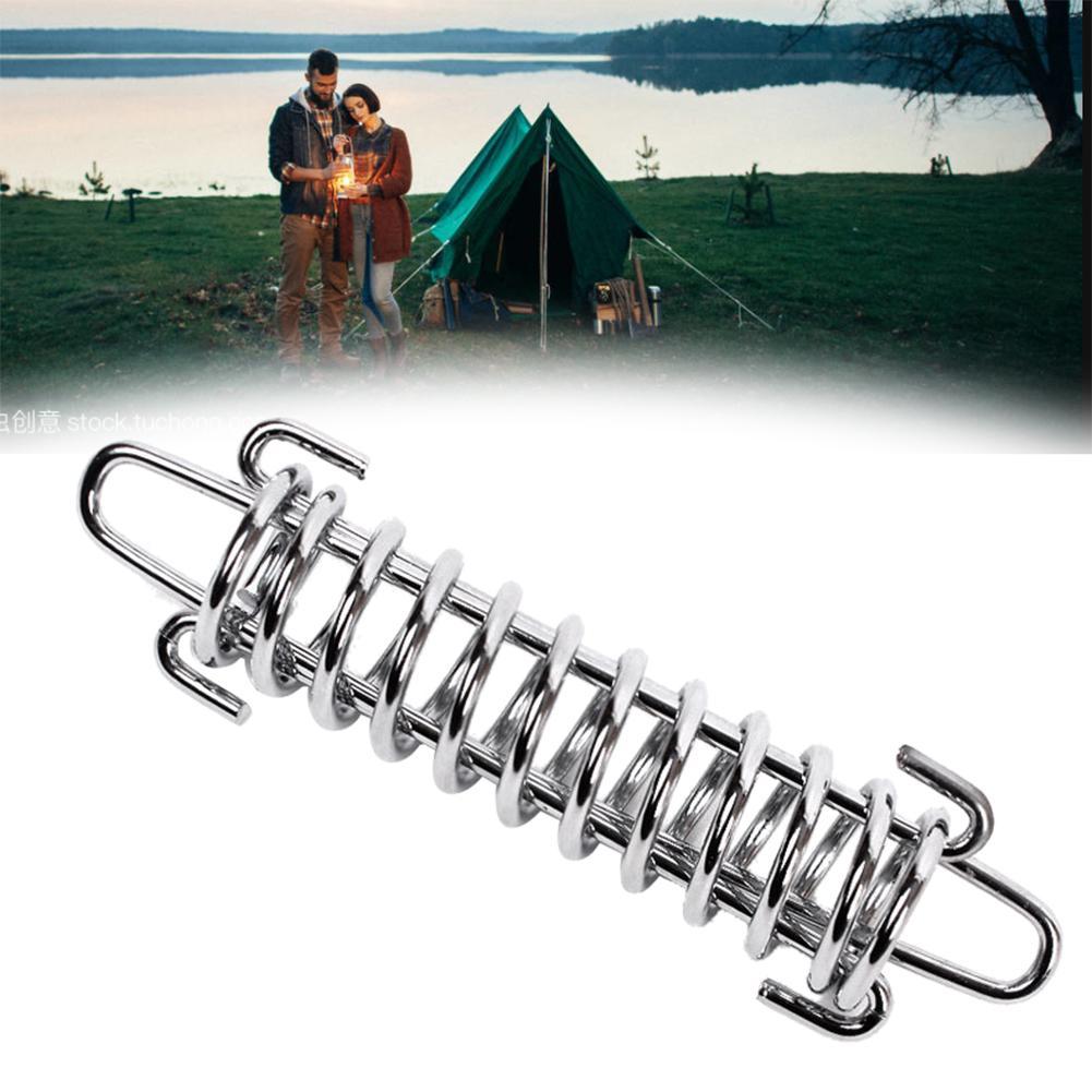 Kit Tent Spring Hiking Elastic Heavy Duty Stainless Steel Tensioner Rope Stopper