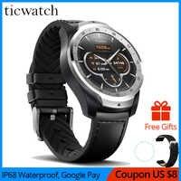 Oryginalny inteligentny zegarek sportowy ticwatch pro Bluetooth WIFI płatności NFC/asystent google Android nosić Smartwatch GPS IP68 wodoodporny