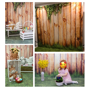 Image 4 - Allenjoy Spring Photography Backdrops Easter Grass Ivy Park Wooden Wall Background For Photo Studio Photocall Photophone Fond