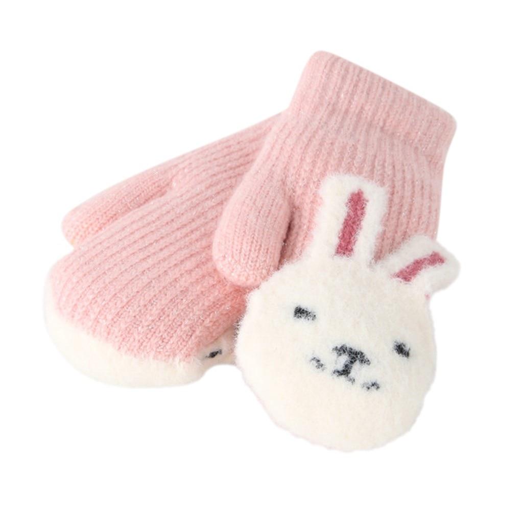 Winter Toddler Baby Gloves Mittens NEW Lanyard Coat String Boy Girl Pink OR Blue