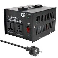 ST 1000W ev kullanımı akıllı verimli Step Up Down trafo 110V 220V ev elektrikli cihazlar gerilim dönüştürücü