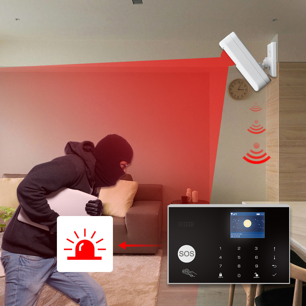 Fuers WIFI умная домашняя система охранной сигнализации 3G противоугонная система 4,3 дюймовый цветной экран приложение дистанционное управлени... - 5