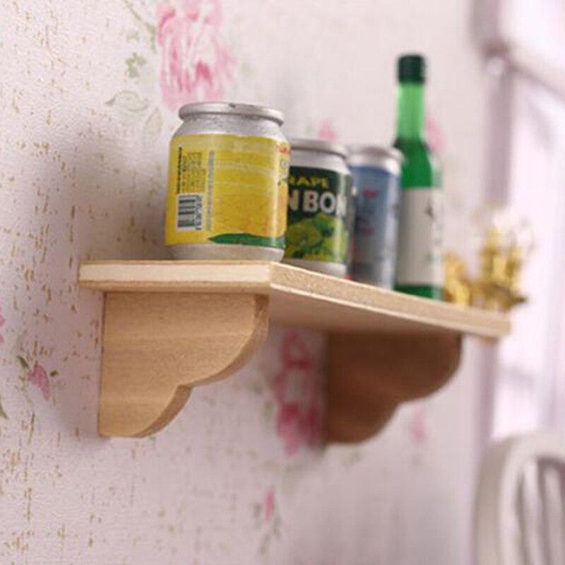 1:12 Doll House Wall Shelf Miniature Bathroom Accessory Mini Accessories For Dollhouse Wooden Wall Shelf