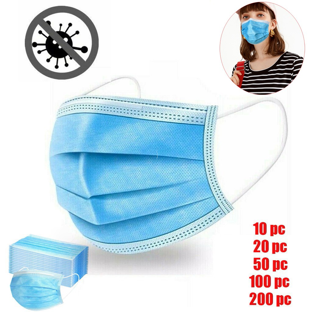 10/20/50/100/200PCS Disposable Anti Dust Mouth Face Masks Adult 3-Ply Face Mask Anti-Dust Mascarillas Proteccion Mouth Face Mask