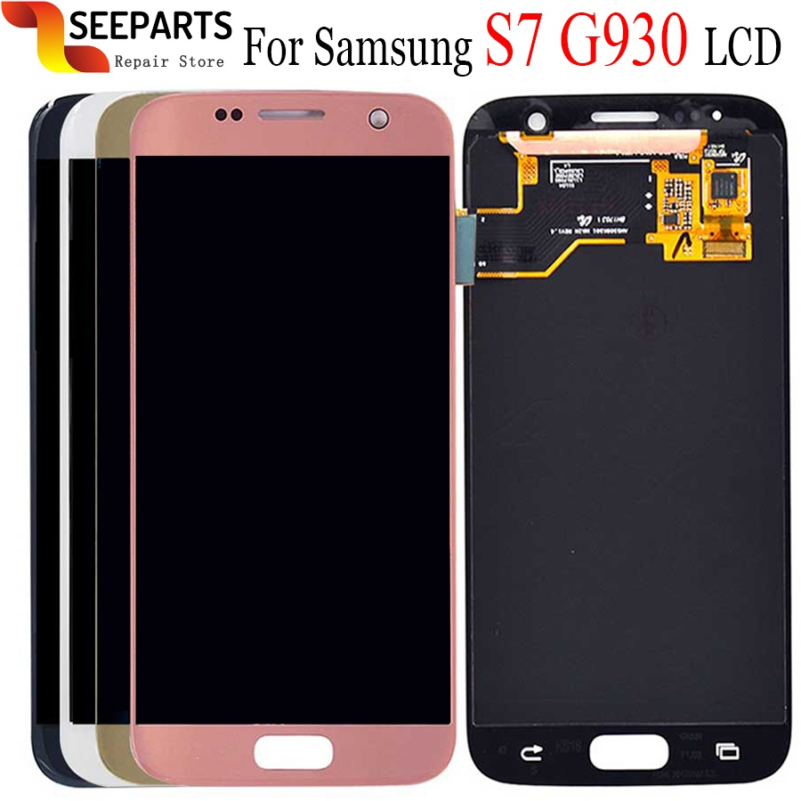 5.1 For SAMSUNG GALAXY S7 G930 LCD G930A G930F SM-G930F Display Touch Screen Digitizer Assembly Replacement For Samsung S7 LCD image