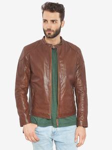 Image 5 - VAINAS avrupa marka erkek Premium Buffalo deri ceket erkekler kış gerçek deri motosiklet ceketler Biker ceketler ROMEO