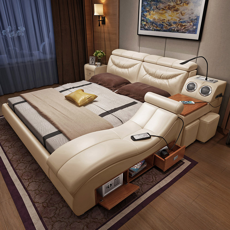 US $1419.0 |contemporary bedroom set champagne gold queen size bed frame  with headboard-in Bedroom Sets from Furniture on Aliexpress.com | Alibaba  ...