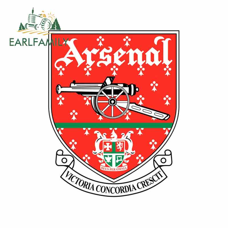 EARLFAMILY 13cm X 9.2cm  For Arsenal-Fc-1949 Car Stickers And Decals Fashion Fine Decal Anime DIY Occlusion Scratch Waterproof