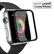 Full Cover Protective Glass For Apple Watch Tempered Screen Protector 38mm 42mm 44mm 40mm Series 1 2 3 4 Watch Glass Film 3d glass film 38mm 42mm real tempered glass screen protector for apple watch series 3 38mm 42mm free shipping original packaging