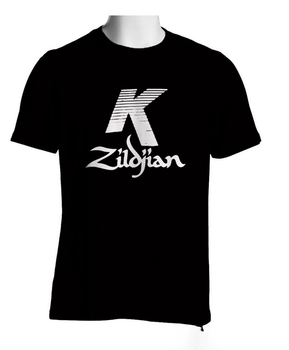 Zildjian K Percussion Drums Cymbal Logo Black Full-figured T-Shirt Mens Tshirt S To 3xl 2020 Summer T Shirt