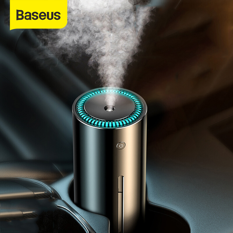 Baseus 300ml Alloy Air Humidifier Aroma Essential Oil Diffuser For Home Office Car Air Purifier Nano Spray Mute Clean Air Care
