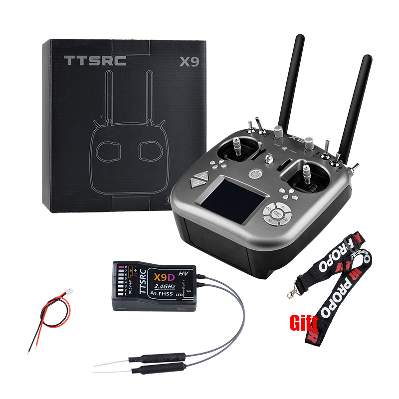 TTSRC X9 Remote Control 2.4G 9CH Transmitter & X9D Receiver For RC Airplane Quadcopter Drone UAV