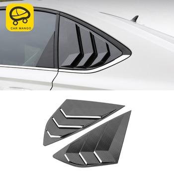 CARMANGO for VW Volkswagen Lavida 2018 2019 Car Styling Rear Window Sunshade Cover Trim Frame Sticker Exterior Accessories
