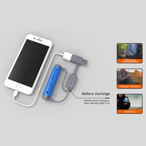 Image 4 - 18650 Battery Charger for Li ion Batteries Multifunction Magnetic USB Charger Mini Charging/Discharging Power Bank No battery