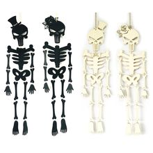 цена на New Halloween Hanging Skull Skeleton DIY Decoration Scary Horror Props Ornament Outdoor Haunted House Party Decor
