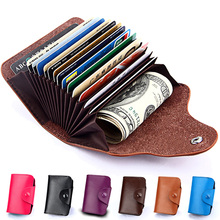 Genuine Leather Men Wallet ID Credit Card Holder Wallets Male Small Coin Purse Women Money Bag