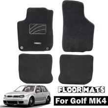Автомобильные коврики для VW Golf MK4 MK4 1999 - 2005 нейлон черный ковер подкладка Передняя Задняя внутренняя часть 2000 2001 2002 2003 2004