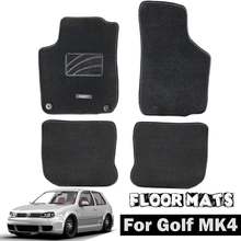 Tapete do carro esteiras para vw golf mk4 mk4 1999 - 2005 náilon preto forro frente traseira interior 2000 2001 2002 2003 2004