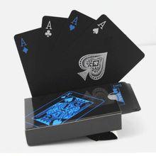 54 nuevo impermeable de PVC negro puro tarjeta de juego de plástico juego de póquer clásico competencias herramienta regalo de Navidad 2020