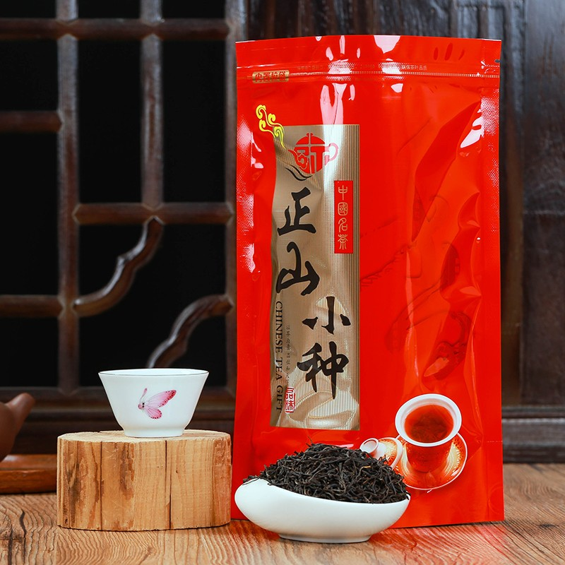 Chinese Zhengshanxiaozhong Zheng Shan Xiao Zhong Black Tea Lapsang Souchong 250g High Quality Green Food