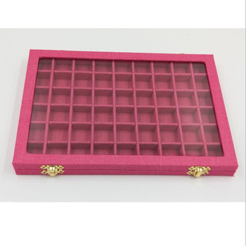 Portable Velvet Suede Jewelry Box Rings Earrings Tray Holder Women Showcase Storage Glass Lid Jewelry Display Organizer Box velvet with glass ring earrings necklace bracelets jewelry display organizer box tray holder storage carrying cases tools