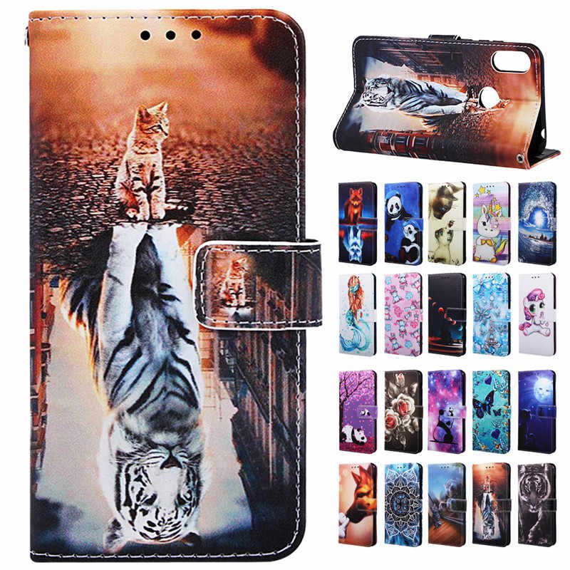 Honor 8a caso para huawei honor 8a caso capa de luxo animal carteira couro flip cases sfor huawei honor 8a 8a JAT-LX1 coque