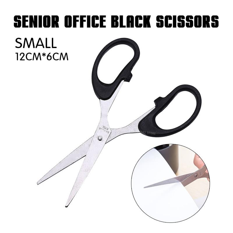 1p Senior Office Black Scissors Paper Scissors Manual Scissors Essentials Stainless Steel (small Size) Office 3 Sizes Plastic