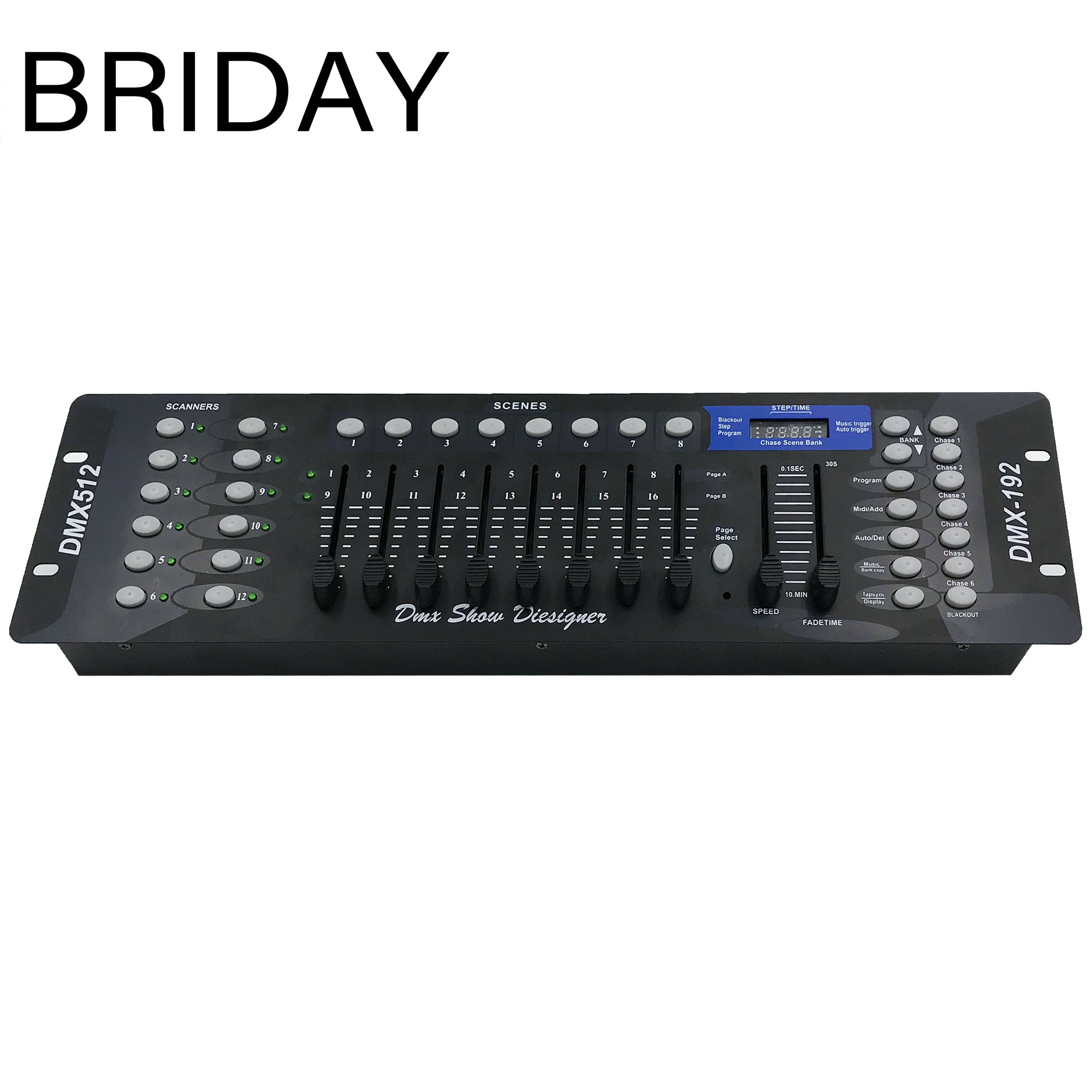 192 DMX Controller DJ Equipment DMX 512 Console Stage Lighting For LED Par Moving Head Spotlights DJ Controlle