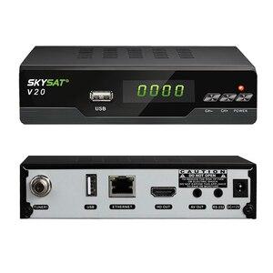 Image 2 - V20 עם UC28D מקרן SKYSAT V20 HD דיגיטלי לווין מקלט תמיכת H.265 HEVC CS Powervu ביס WiFi 3G סט תיבה עליונה